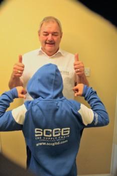 Phillip Beckham, SCCG Senior Consultant and his grandson, Archie, U9 Ghosts player